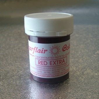 Sugarflair Extra Strong paste Colour – Red 42g