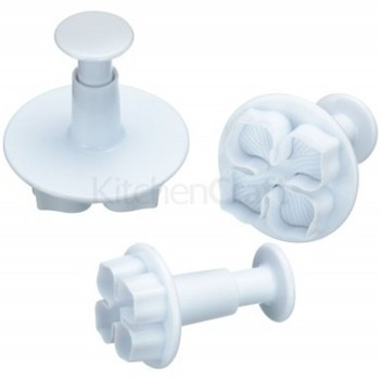 Kitchen Craft Pansy Plunger Cutters set of 3