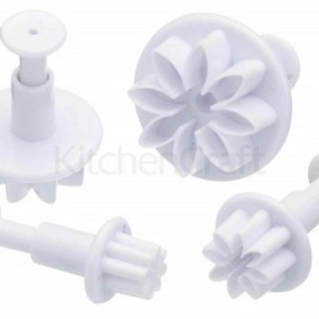 Kitchen Craft SET OF 4 FLOWER FONDANT PLUNGER CUTTERS
