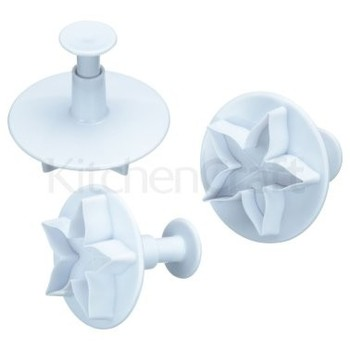Kitchen Craft SET OF 3 LOTUS BLOSSOM FONDANT PLUNGER CUTTERS