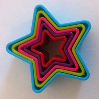 Set of 5 Star cookie cutters