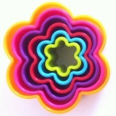 Set of 6 Flower Cookie Cutters