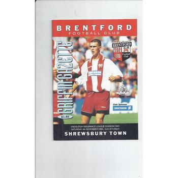 Shrewsbury Town Away Football Programmes