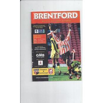 1998/99 Brentford v Scarborough Football Programme