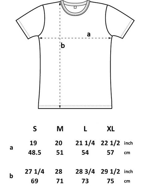 Mens Polaroid T-shirt Size Chart
