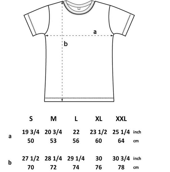 Men's Logo T-shirt (Navy & Floral) Size Chart