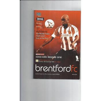 2005/06 Brentford v MK Dons Football Programme
