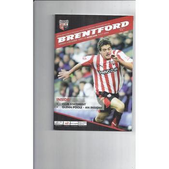 2007/08 Brentford v Morecambe Football Programme