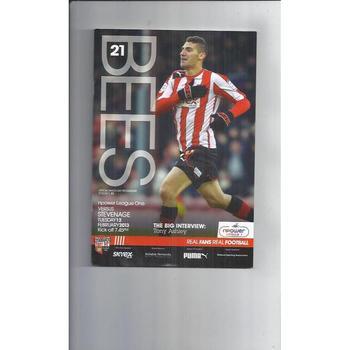 2012/13 Brentford v Stevenage Football Programme