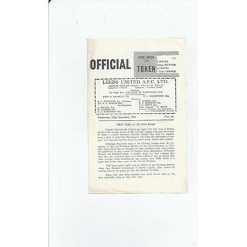 1965/66 Leeds United v Hartlepool United League Cup Football Programme