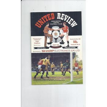 1987/88 Manchester United v Wimbledon Football Programme