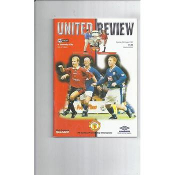 1997/98 Manchester United v Coventry City Football Programme