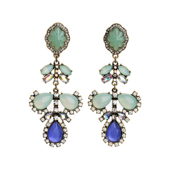 Blue Gems Earrings