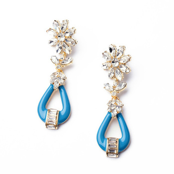Crystal Swingblu Earrings