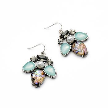 Minty Ladybird Earrings