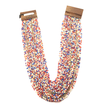 Wooden Clasp Necklace