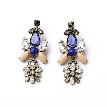 Blue Cream Myra Earrings