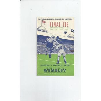 Blackpool v Newcastle United FA Cup Final 1951
