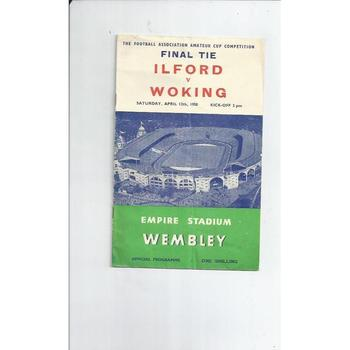 Ilford v Woking Amateur Cup Final 1958