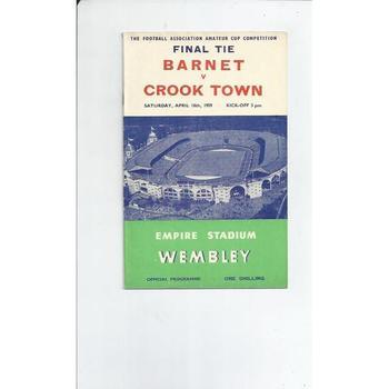 Barnet v Crook Town Amateur Cup Final 1959