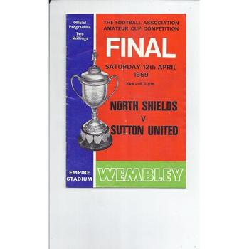 North Shields v Sutton United Amateur Cup Final 1969 + Match Ticket