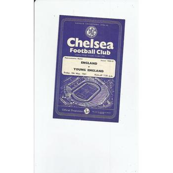 1960/61 England v Young England Football Programme @ Chelsea