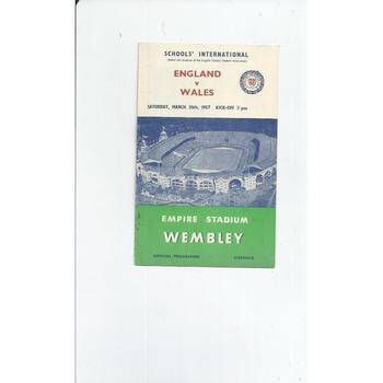 1957 England v Wales Schools International Football Programme