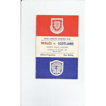1964 Wales v Scotland Football programme at Cardiff