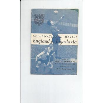 1950 England v Yugoslavia Football Programme @ Arsenal