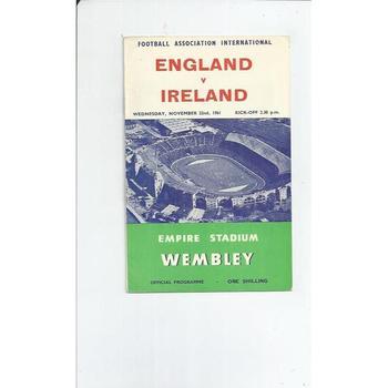 England v Ireland 1961