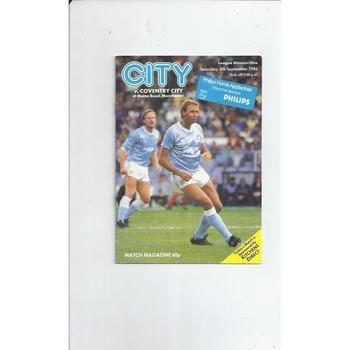 Coventry City Football Programmes