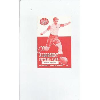 1960/61 Aldershot v Crewe Alexandra Football Programme