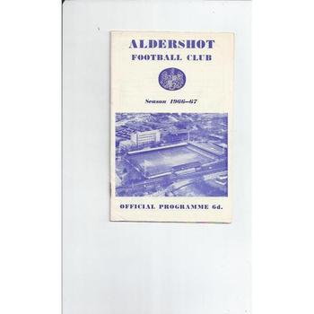 Aldershot v Halifax Town 1966/67 + League Review