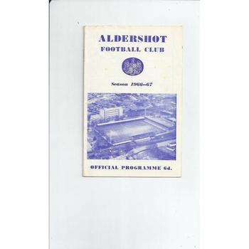 Aldershot v Southend United 1966/67 + League Review