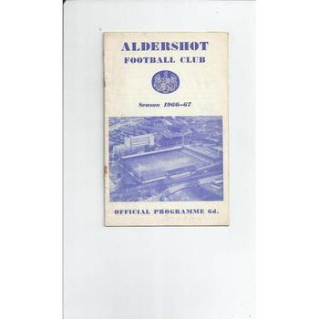 1966/67 Aldershot v Tranmere Rovers Football Programme + League Review