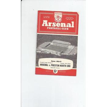 1960/61 Arsenal v Preston Football Programme