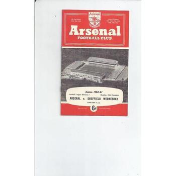 Arsenal v Sheffield Wednesday 1960/61