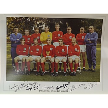 Signed 1966 World Cup England Team Photo