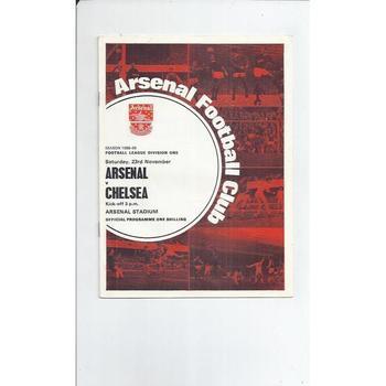 Arsenal v Chelsea 1968/69