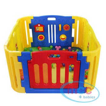 4 Sided Plastic Baby Playpen with Corner Sections