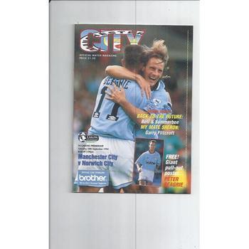 Norwich City Away Football Programmes