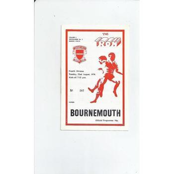Bournemouth Football Programmes