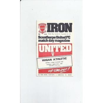 1979/80 Scunthorpe United v Wigan Athletic Football Programme