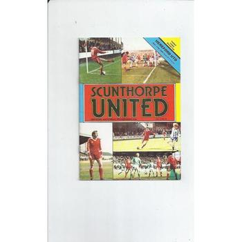 1981/82 Scunthorpe United v Hereford United Football Programme