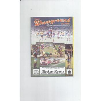 Stockport County Away Football Programmes
