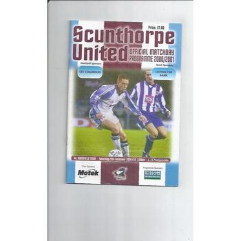 Mansfield Town Away Football Programmes