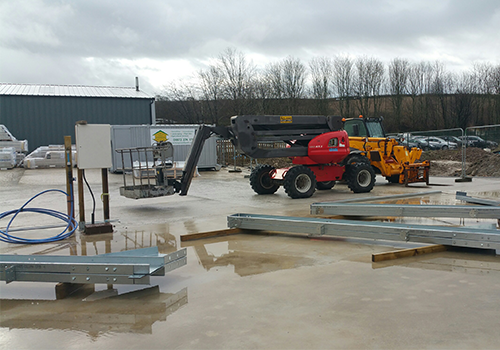 steel building installation service