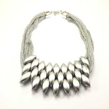 Peacock Silver  Necklace