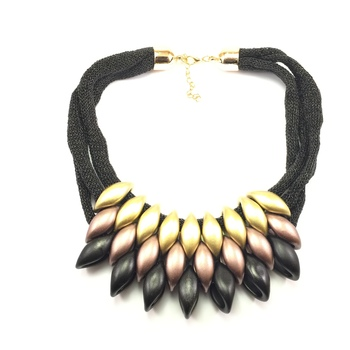 Peacock Bronze & Gold Necklace