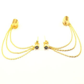 Draped Chain Ear Cuff